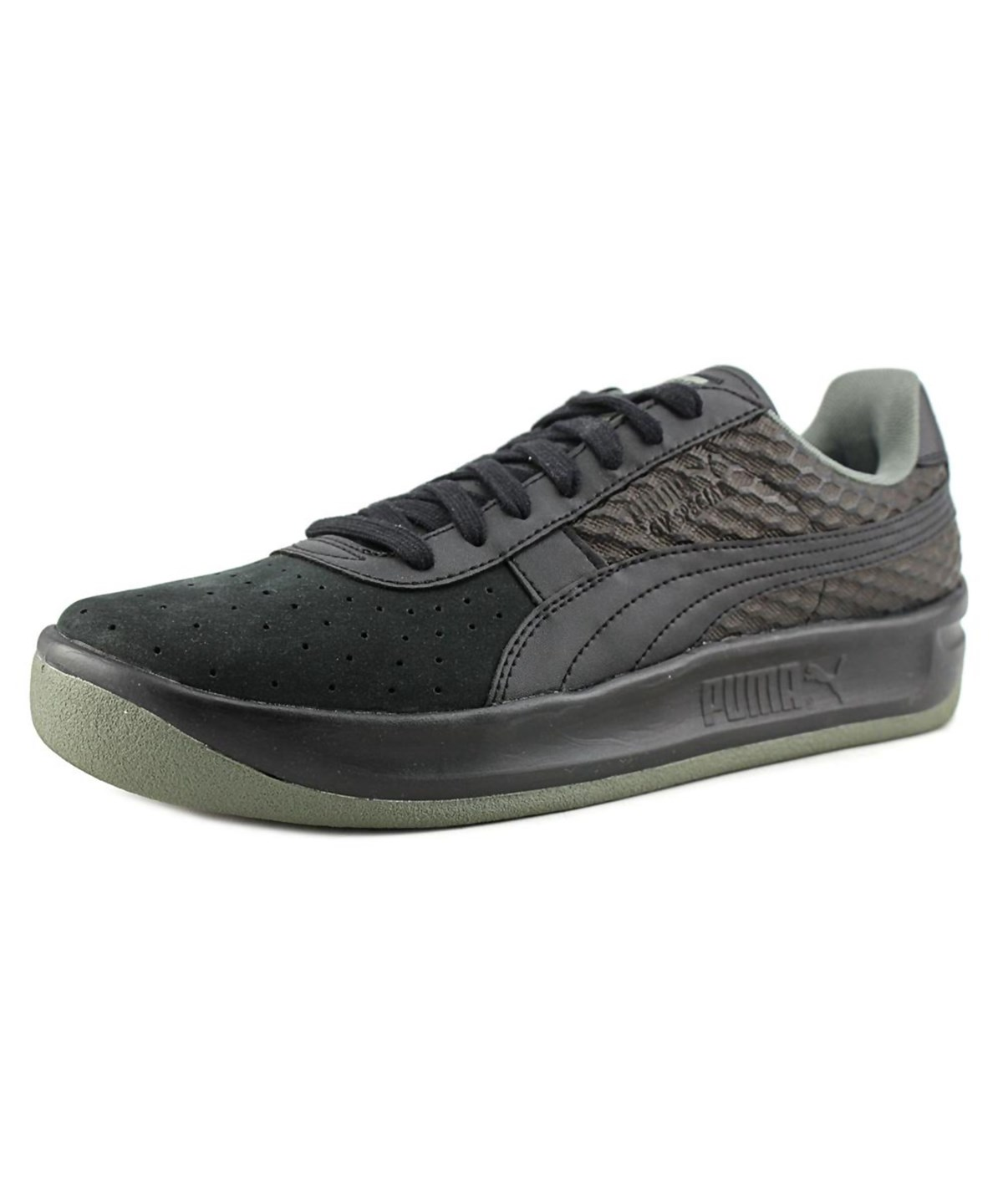 newest 807a1 82193 Puma Gv Special Textured Men Round Toe Synthetic Black Running Shoe