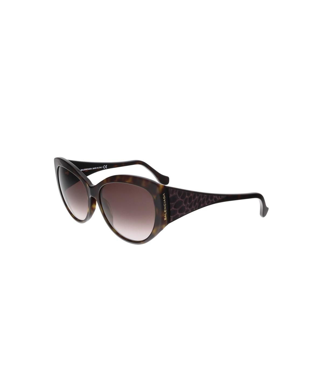 Balenciaga Ba0023 52T Havana  Oval Sunglasses In Brown