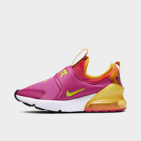 Nike Kids' Little Girls Air Max 270 Extreme Stay-put Closure Casual Sneakers From Finish Line In Pink