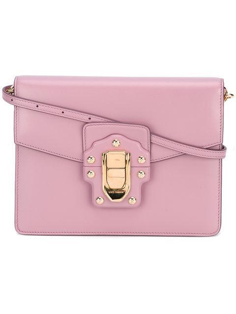 Dolce & Gabbana Lucia Shoulder Bag In 8H409-Rosa Poudre