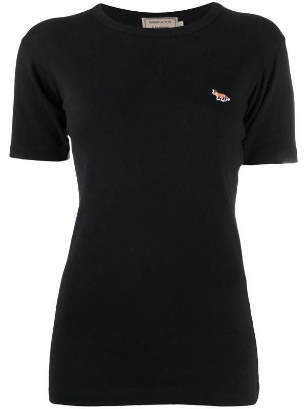 Maison Kitsuné Maison Kitsune Black Profile Fox T-shirt In Bk Black
