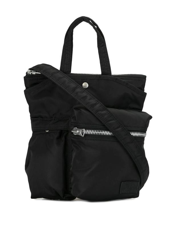 Sacai X Porter Yoshida & Co. Zip Pocket Nylon Crossbody Bag In Black