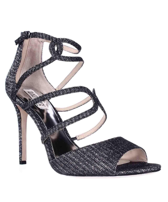 Badgley Mischka Devon Strappy Peep Toe Dress Sandals, Black