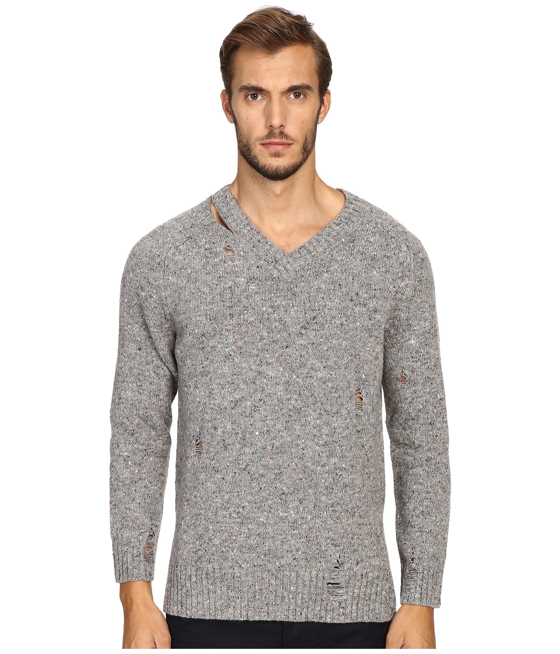 Marc Jacobs Olympia Knit Sweater In Grey