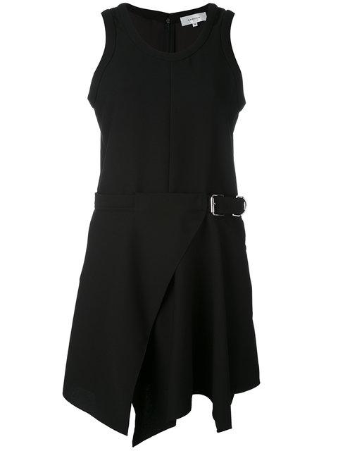 Carven Belted Skater Dress In Black