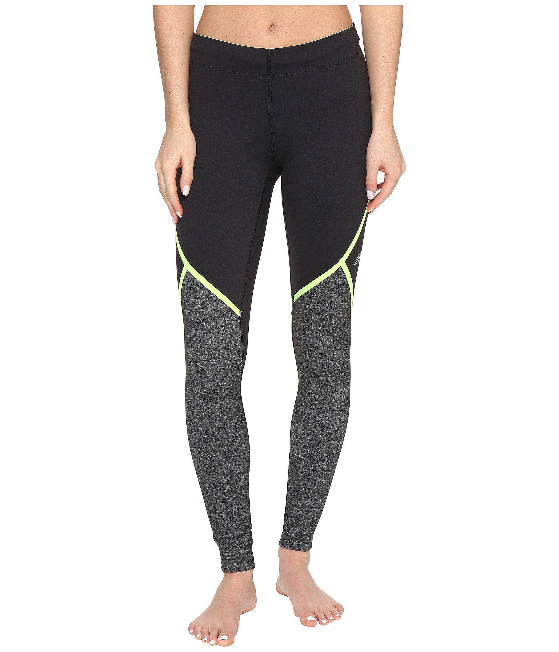 New Balance Trinamic Tights In Lime Glow