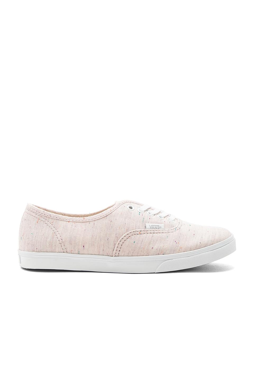Vans Authentic Lo Pro Sneaker In Pink & True White