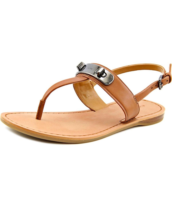 Coach Gracie Women  Open-Toe Leather  Slingback Sandal In Brown