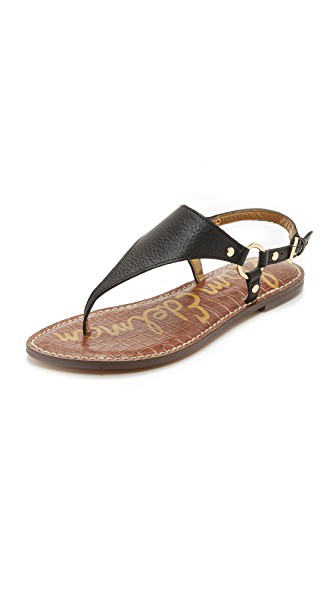 3c27a8bbb913 Sam Edelman Women's Gigi Leather Thong Sandals In Black Patent ...