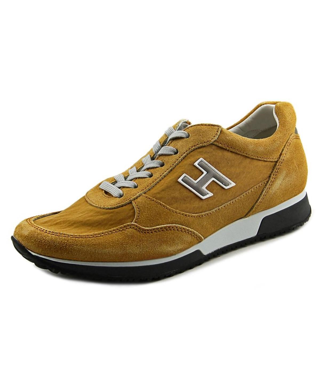 Hogan H2090P211Ul7L405    Suede  Fashion Sneakers In Khaki