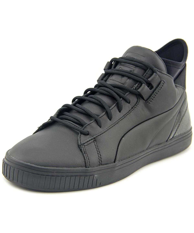 Puma Play Prm Men  Round Toe Leather Black Sneakers