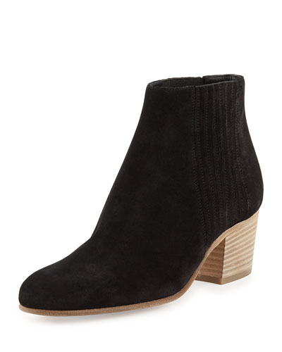 Vince Haider Slip-on Suede Boots In Black