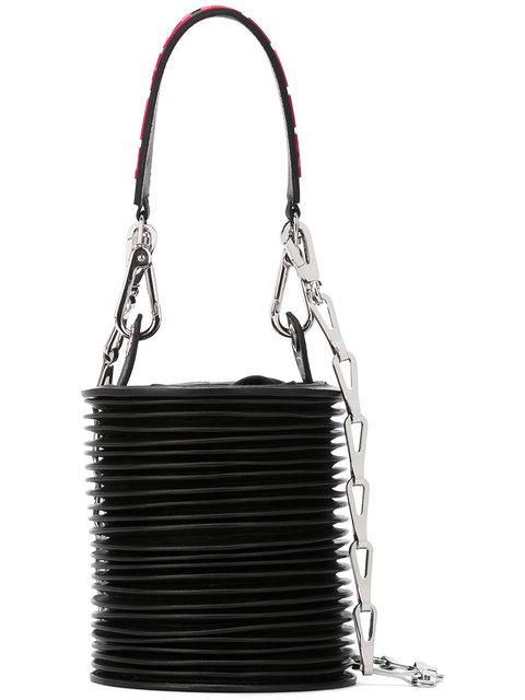 Paco Rabanne Ruffled Cone Tote In Black