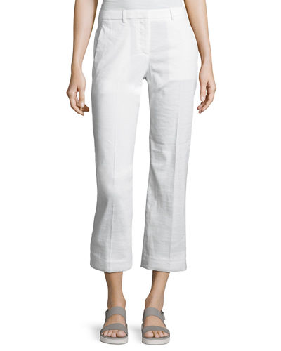 Theory Hartsdale Np Crunch Wash Pant, White
