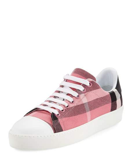 Burberry Westford Check Low-Top Sneaker, Pink