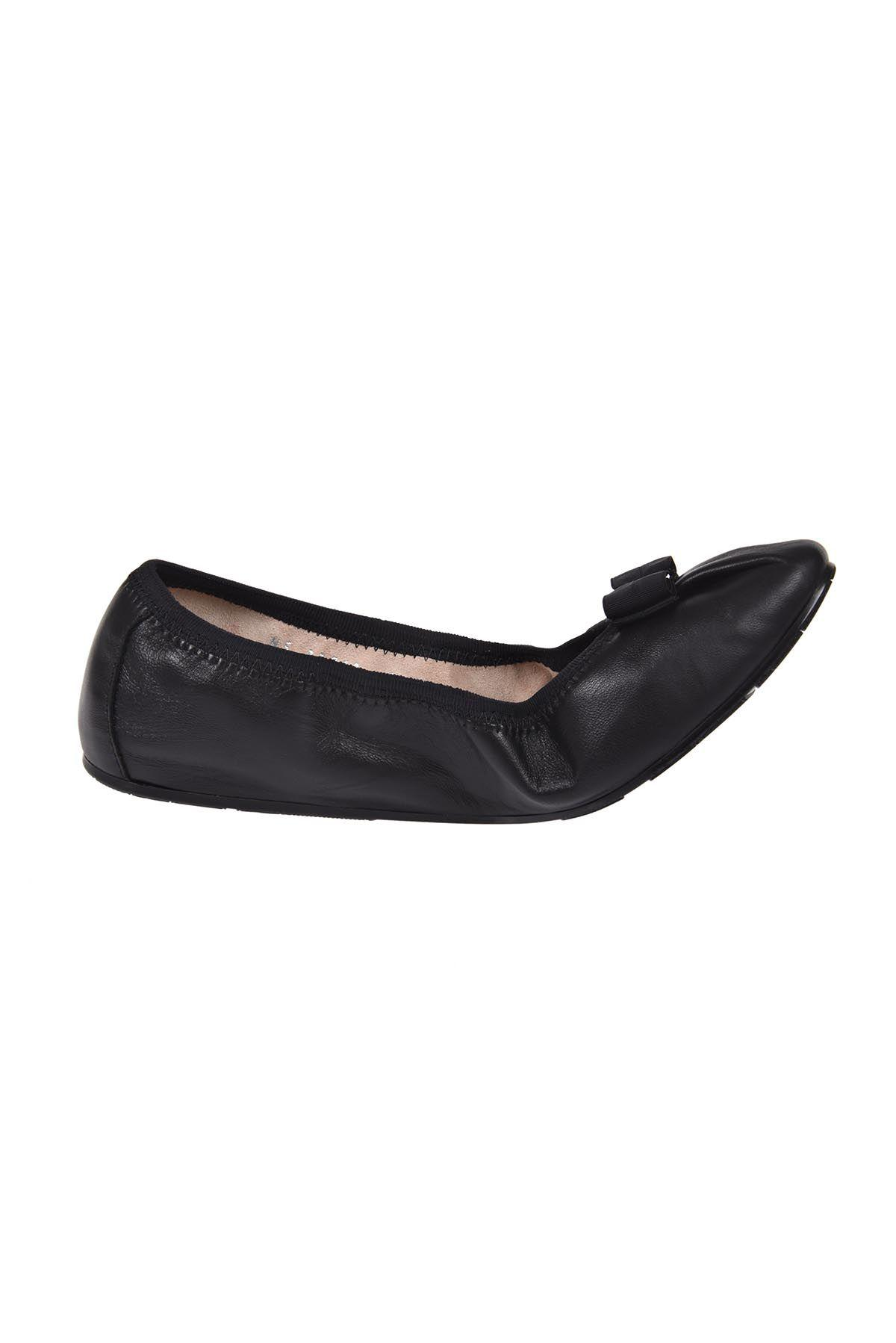 Salvatore Ferragamo My Joy Ballerinas In Black