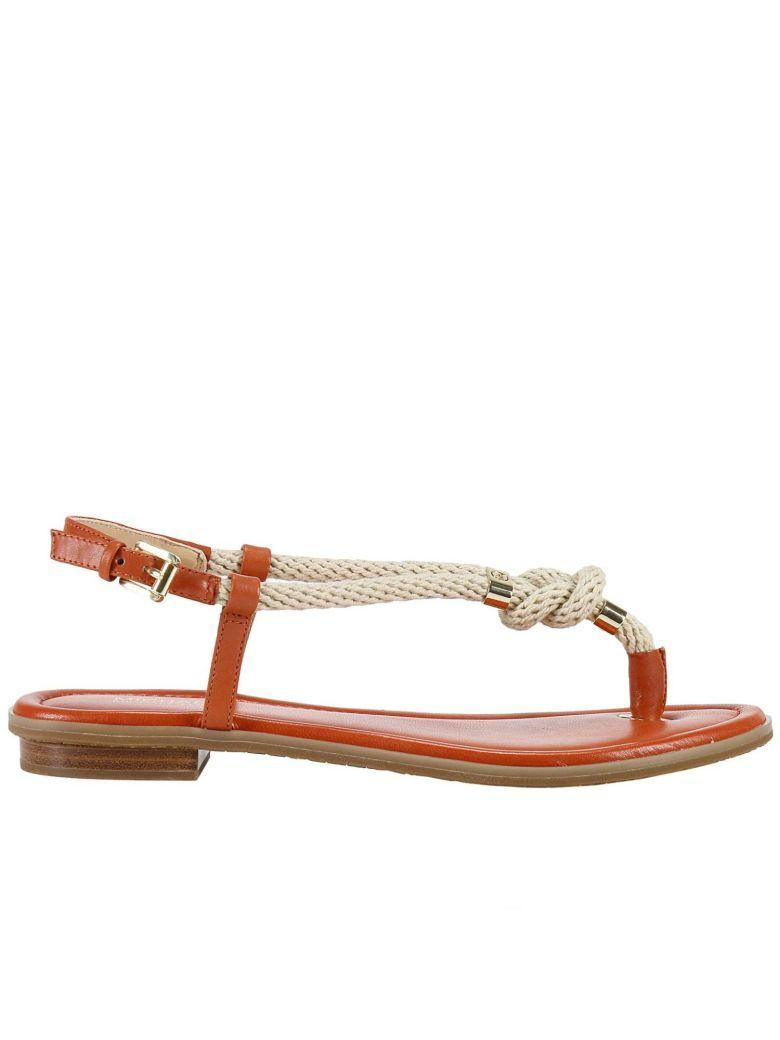 Michael Michael Kors Flat Sandals Shoes Women  In Orange