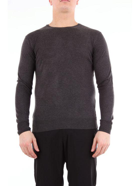 Hōsio Anthracite Round Neck Sweater In Grey