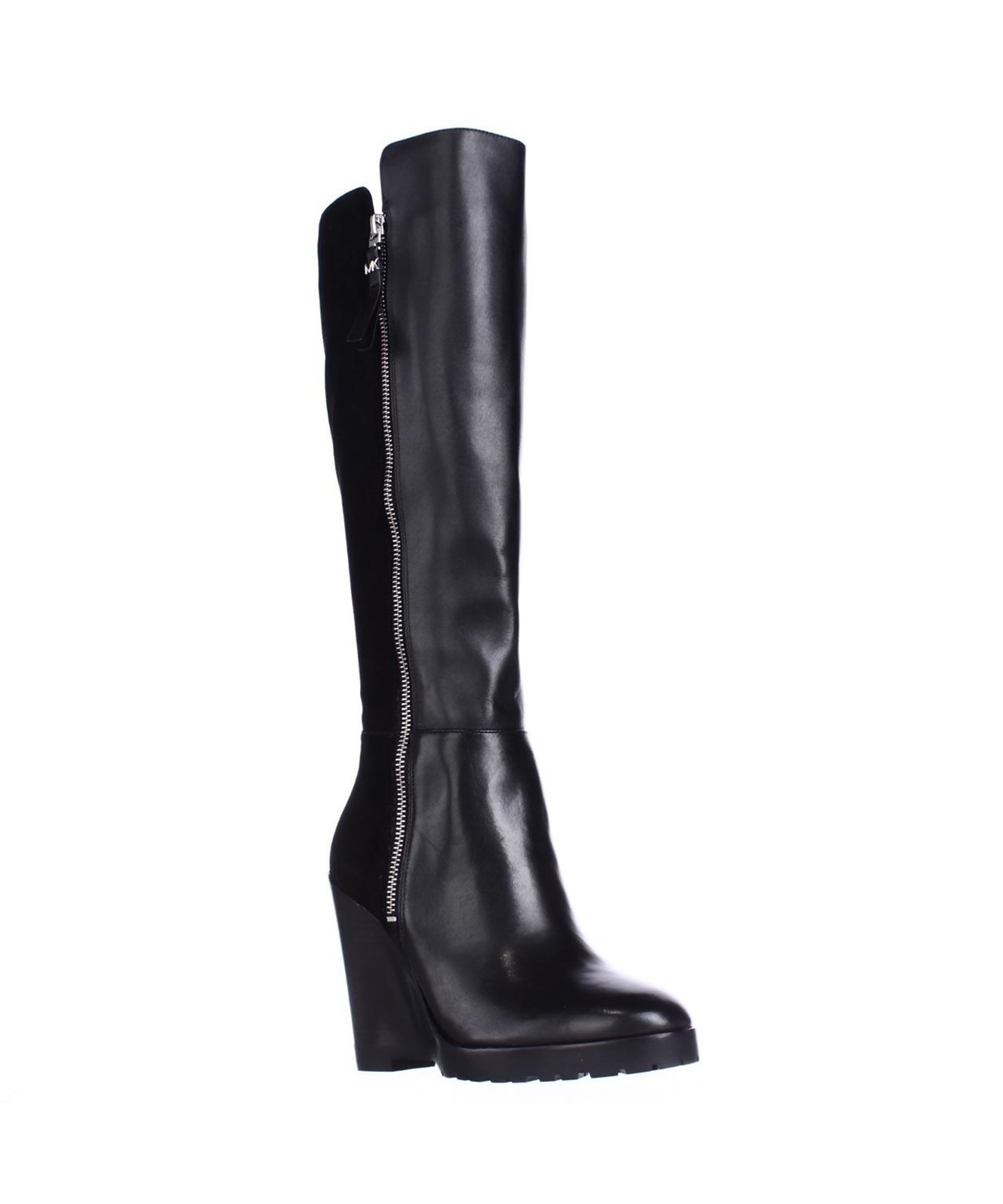 Michael Kors Womens Clara Leather Closed Toe Knee High Fashion Boots In Black