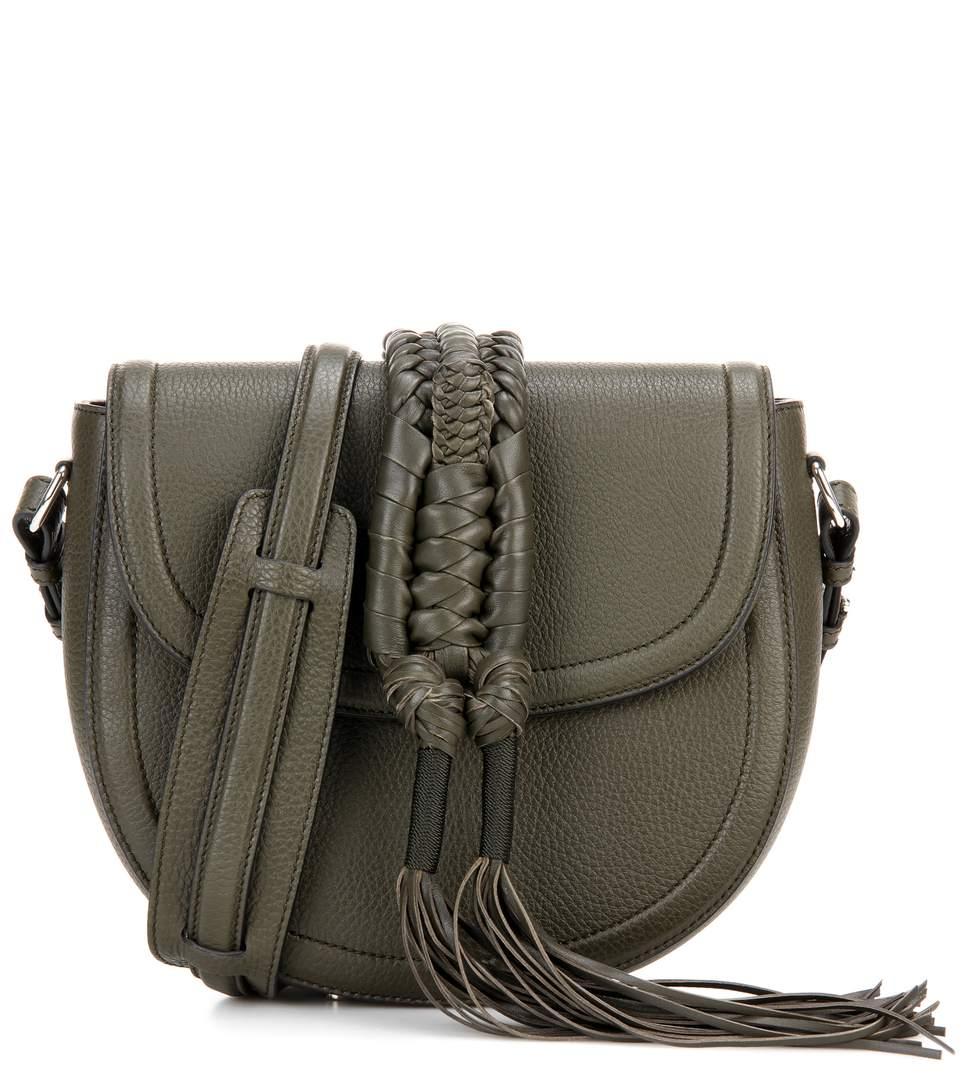 Altuzarra Ghianda Knot Saddle Leather Shoulder Bag In Cactus