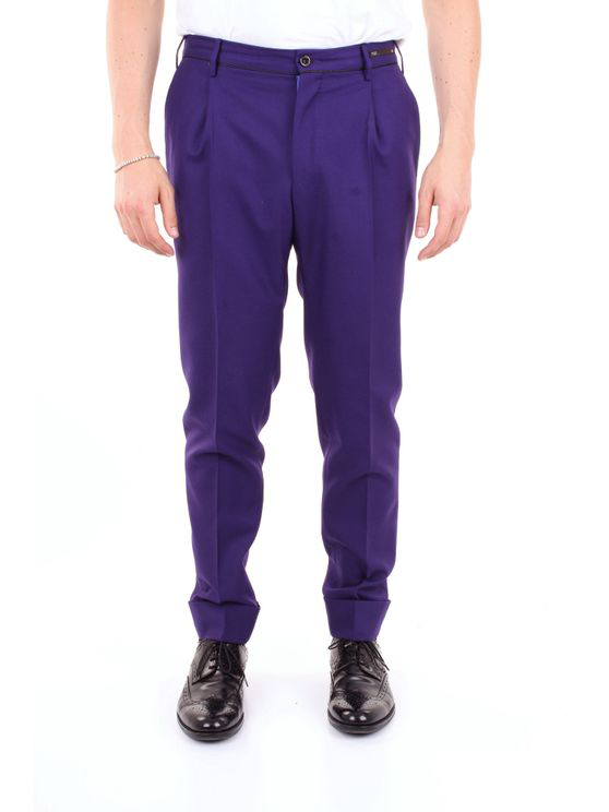 Pt01 Trouser Men Violet In Purple