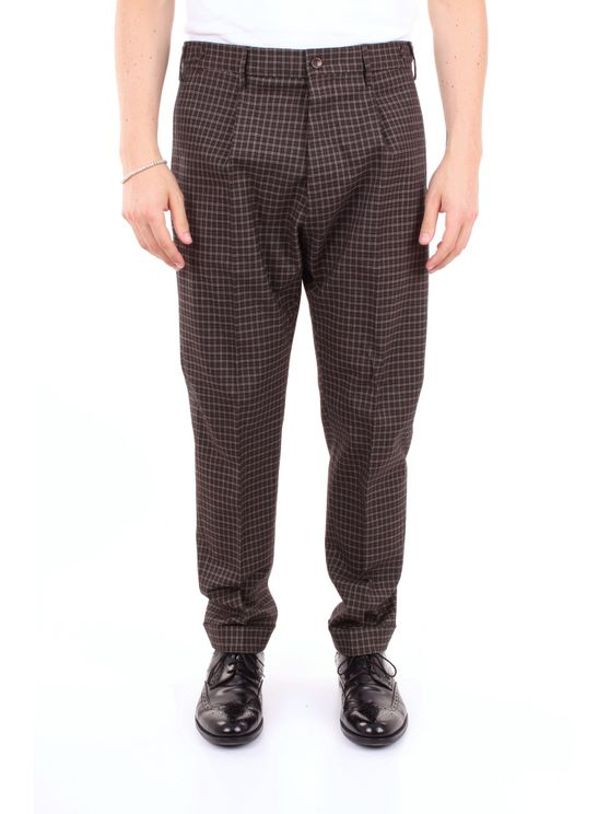 Pt01 Trouser Men Beige Brown And Blue