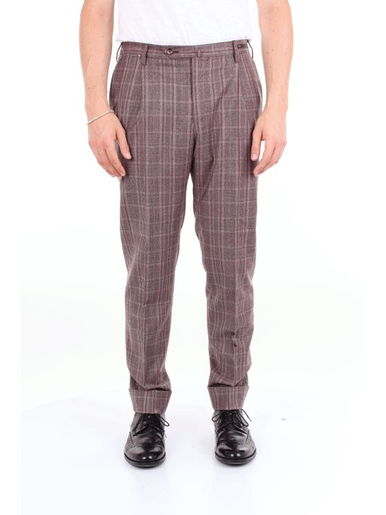 Pt01 Trouser Men Pink And Brown