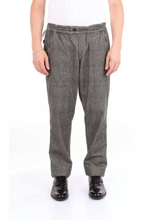Pt01 Trouser Men Gray And Green In Grey
