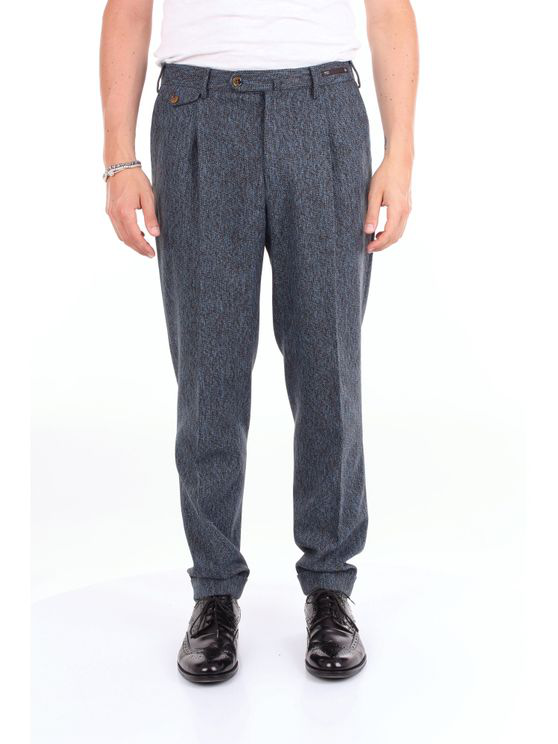 Pt01 Trouser Men Blue And Brown