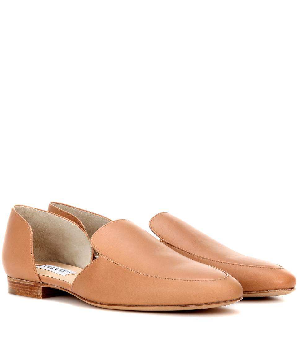 Gabriela Hearst Francis Leather Loafers In Tae