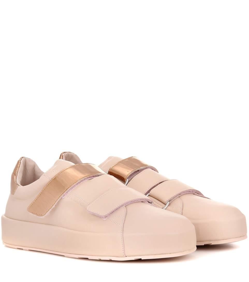 Jil Sander Leather Sneakers In Pink