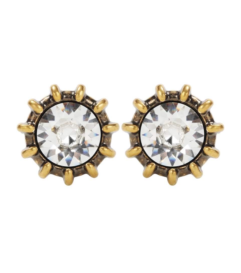 Gucci Crystal Earrings In Metallic