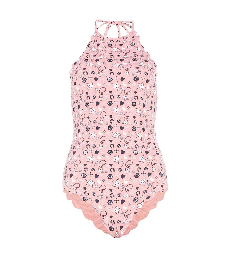 Marysia Mott Maillot Printed Reversible Swimsuit