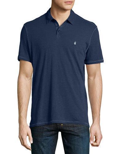 John Varvatos Short-Sleeve Peace Polo Shirt, Navy