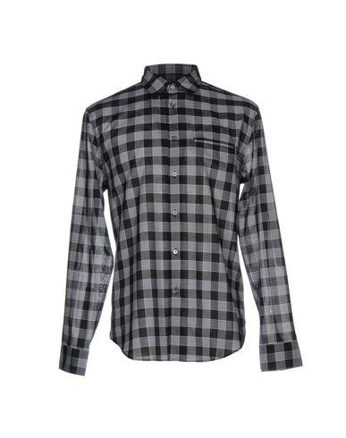 John Varvatos Checked Shirt In Grey