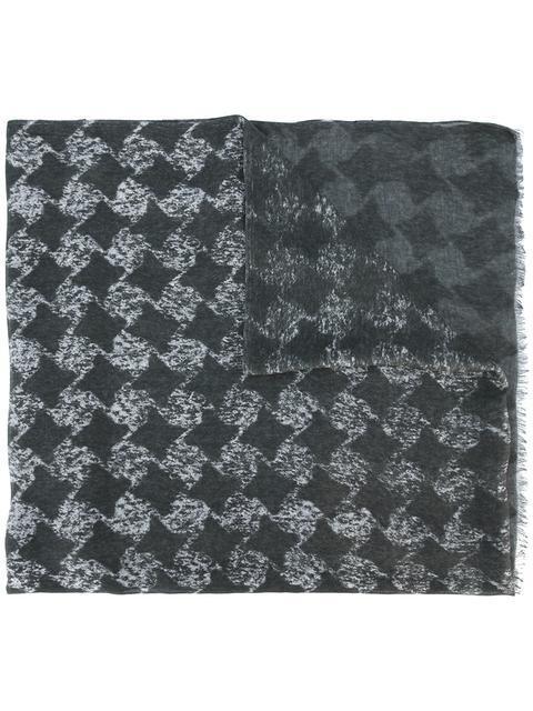 John Varvatos Geometric Pattern Scarf - Grey