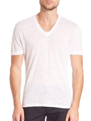 John Varvatos Short Sleeve Pima Cotton Tee In White