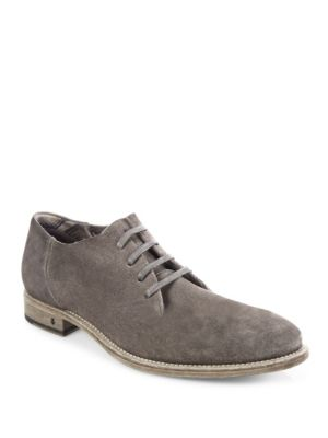 John Varvatos Fleetwood Suede Oxfords In Brown
