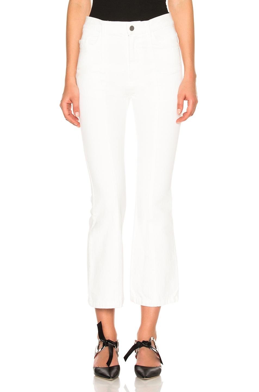 Sandy Liang Winkle Crop In White