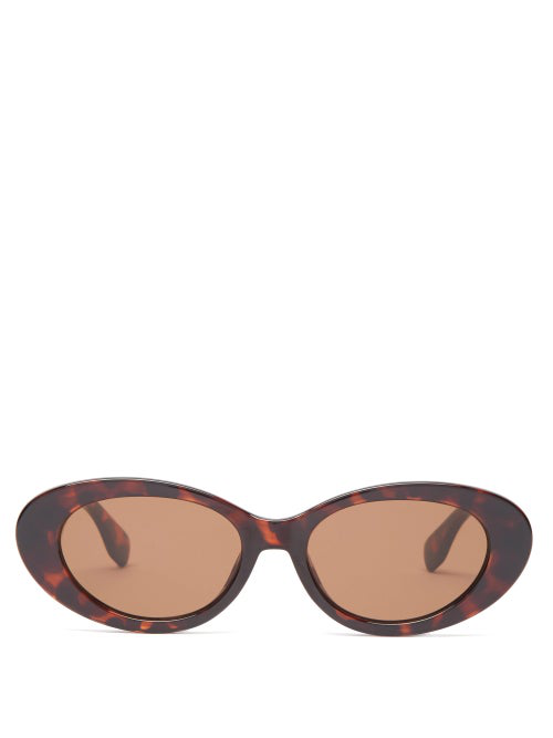 Le Specs X Solid & Striped Ditch Acetate Sunglasses In Tortoiseshell