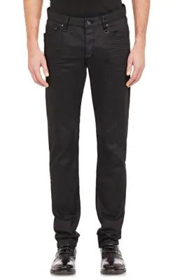 John Varvatos Coated Skinny Jeans In Black