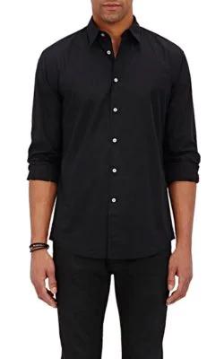 John Varvatos Pick-Stitched Shirt In Black