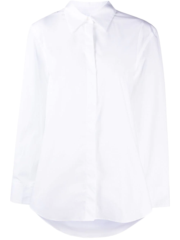 Dondup Tailored Long-sleeved Shirt In White