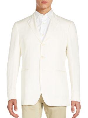 John Varvatos Regular-Fit Linen & Silk Sportcoat In White