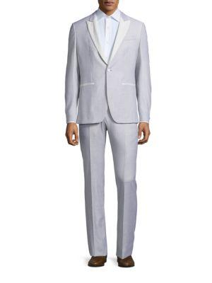 John Varvatos Slim-Fit Austin Wool-Blend Tuxedo In Ivory