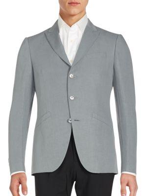 John Varvatos Austin Fit Linen & Silk Sportcoat In Flat Grey