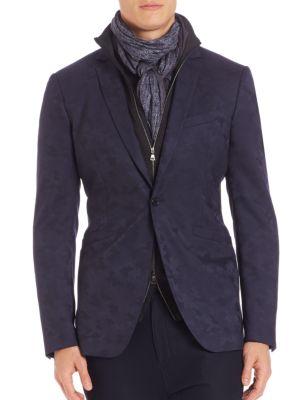 John Varvatos Jv Austin Fit Wool Sportcoat In Navy