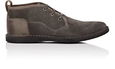 John Varvatos Star B Suede Chukka Boots In Gray