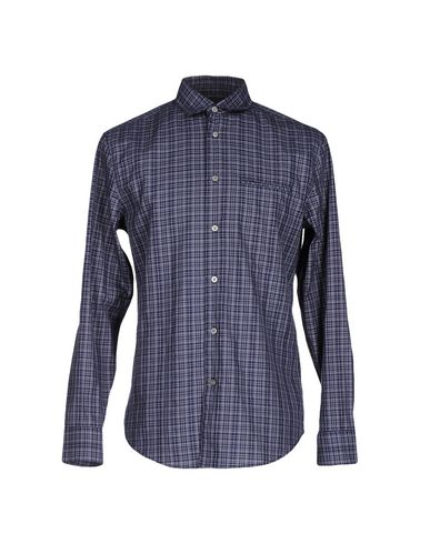 John Varvatos Checked Shirt In Dark Blue