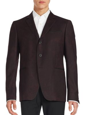 John Varvatos Austin Fit Virgin Wool Sportcoat In Oxblood